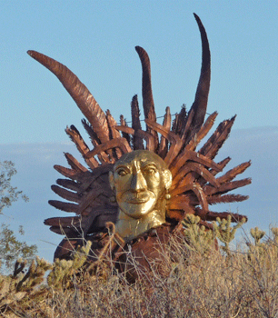 Indian Head in honor of Juan Bautista de Anza's Chochimi Indian guide, Sebasian Tarabal