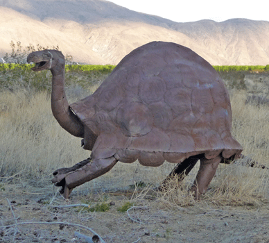 giant tortoise sculpture Borrego Springs, CA