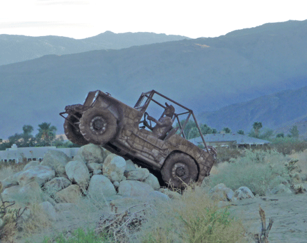 1946 Willy's Jeep sculpture Borrego Springs CA