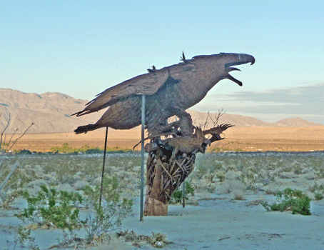 Incredible Wind God Bird in his nest sculpture