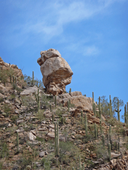 Balancing rock Bajada Loop Saguaro National Park