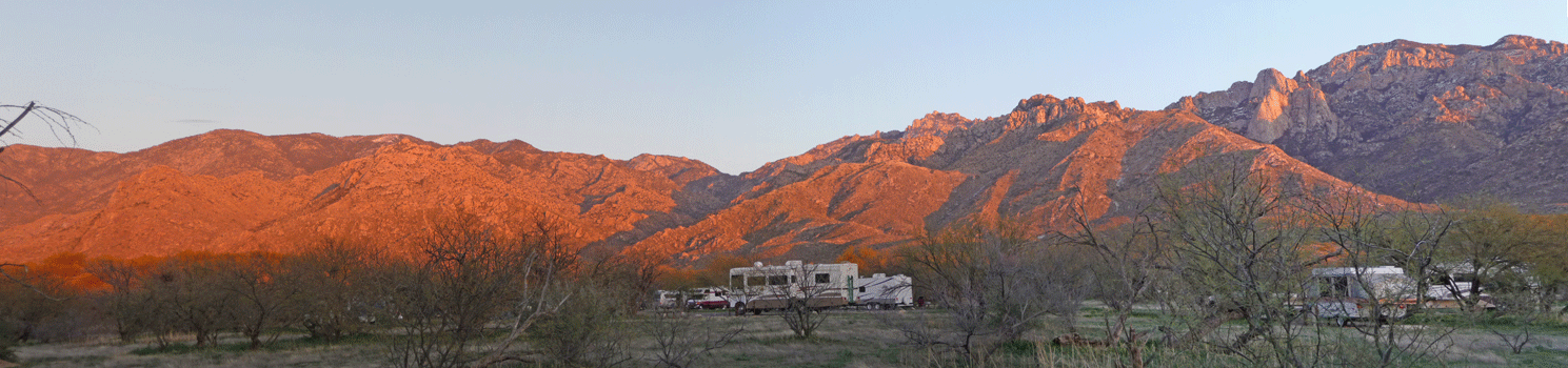 Sunset-lit Catalina Mountains AZ