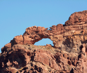 Double arch at Organ Pipe National Monument