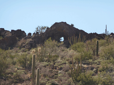 Arch south of Bull Meadows Organ Pipe National Monument