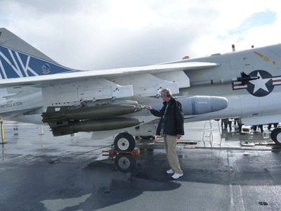 Walter Cooke and bombs USS Midway