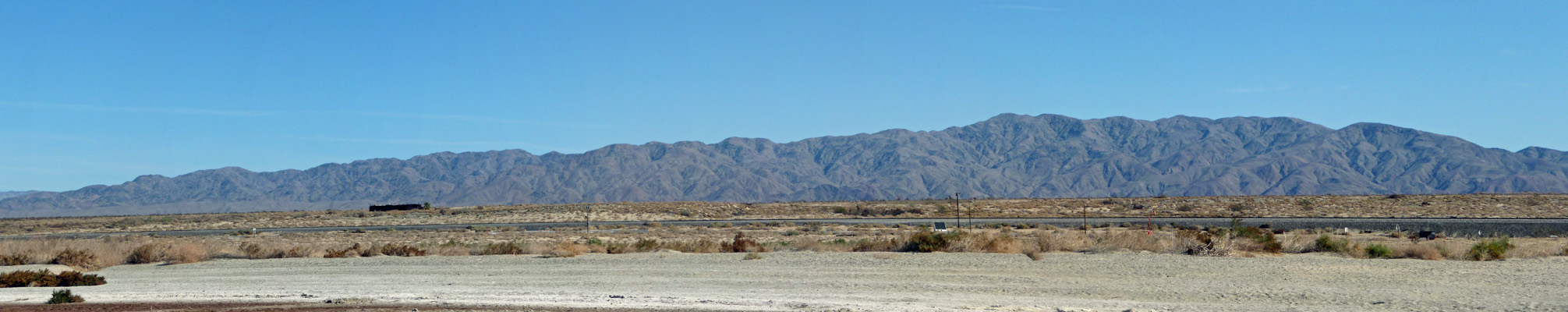 Looking east from Salton Sea