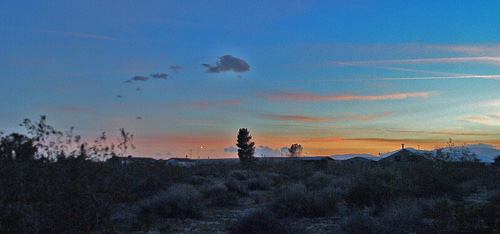 Sunset at Mojave