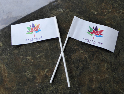 Canada 150th Celebration Flags