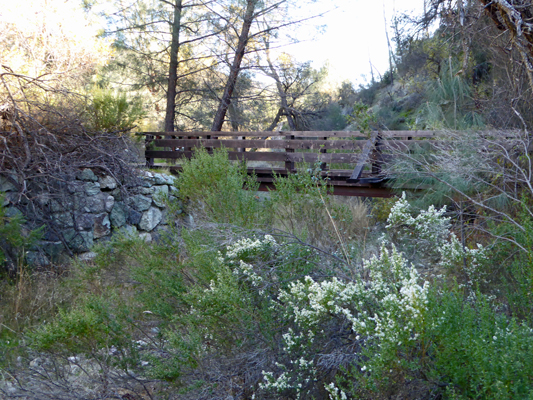 Old Pinnacles Trail bridge