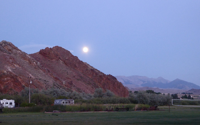 Moonrise at Challis Hot Springs