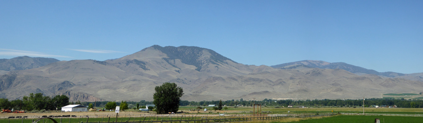 Mountains west of Challis ID