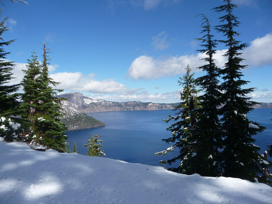 Crater Lake in snow
