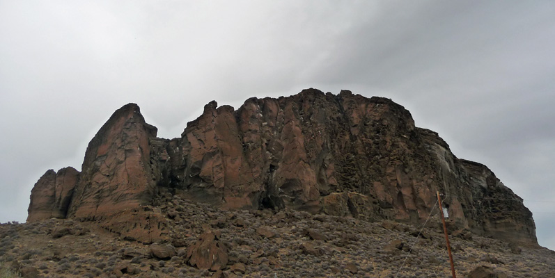 Eroded rock at Fort Rock State Park OR