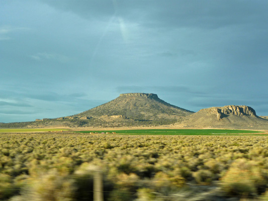 Table Rock in late afternoon sun Oregon Outback