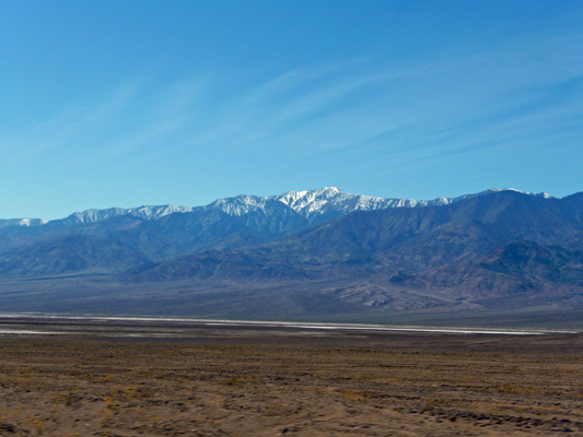 Snow on Panamint Mts Death Valley