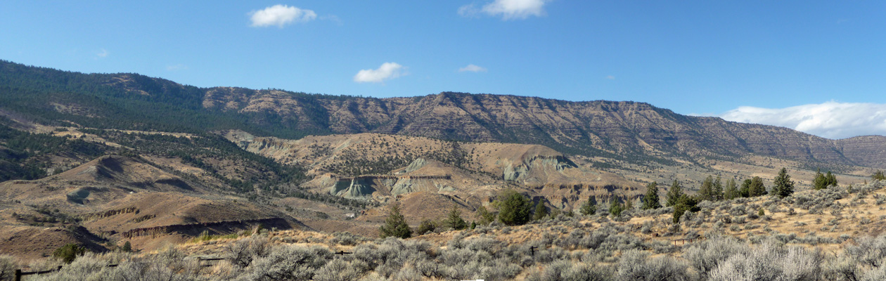 Story in Stone Trail panorama John Day Fossil Beds OR