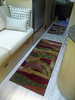 New rugs in Airstream trailer