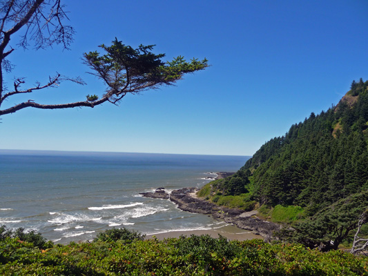 View from Visitor Center Cape Perpetua OR
