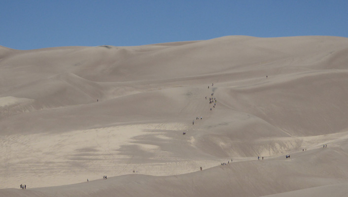 Hikers Great Sand Dunes