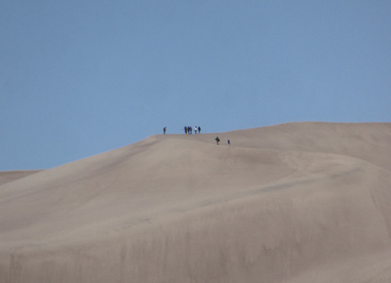 Hikers at top of Great Sand Dunes