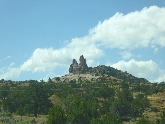 Back side of Church Rock NM