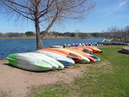 Kayaks for rent Inks Lake SP