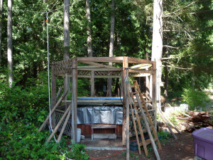 Rotten rafters removed from Gazebo