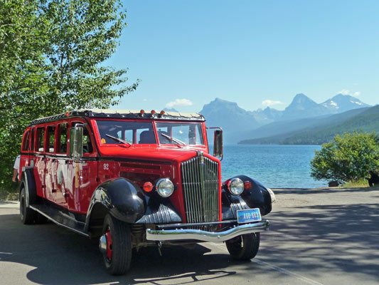 Red Bus Glacier National Park
