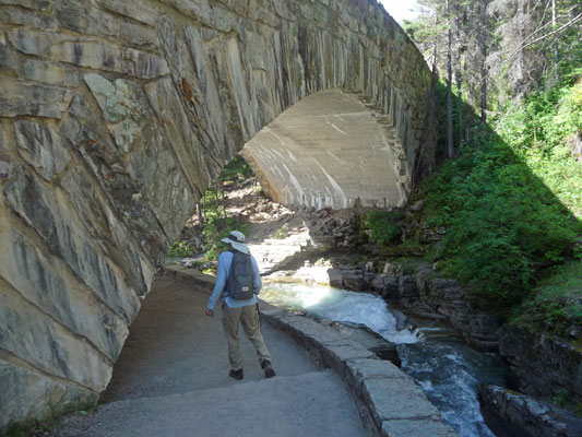 Walter Cooke on trail at Sunrift Gorge
