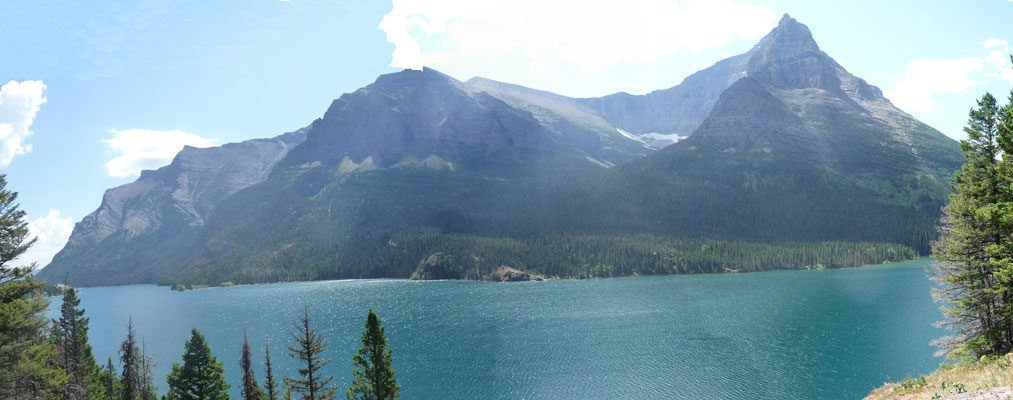 St Mary Lake from trail