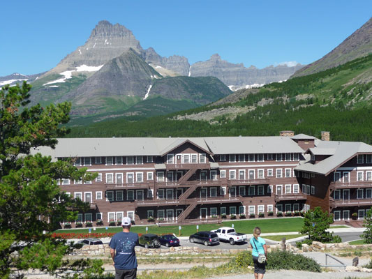 Many Glacier Hotel from upper parking lot