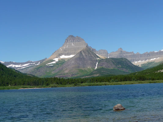 Swiftcurrent Lake from trail