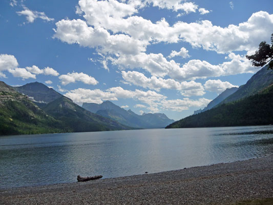 Waterton lake from trail