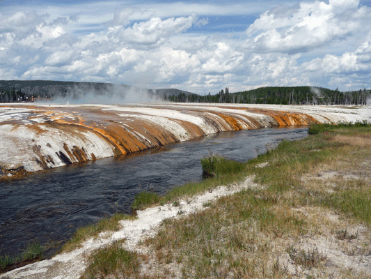 Iron Spring Creek Black Sand Basin Yellowstone