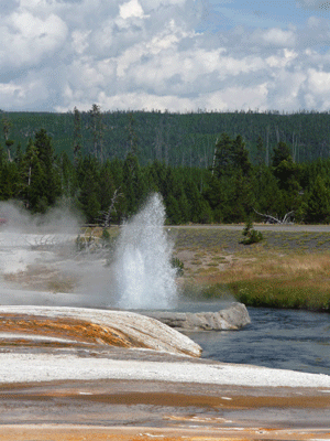 Cliff Geyser Black Sand Basin Yellowstone