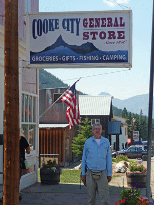 Walter Cooke at Cooke City General Store MT