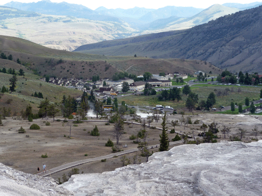 View of Mammoth Hot Springs