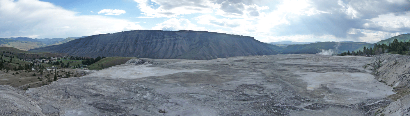 Mammoth Hot Springs Panorama