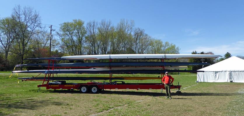 Rowing trailer