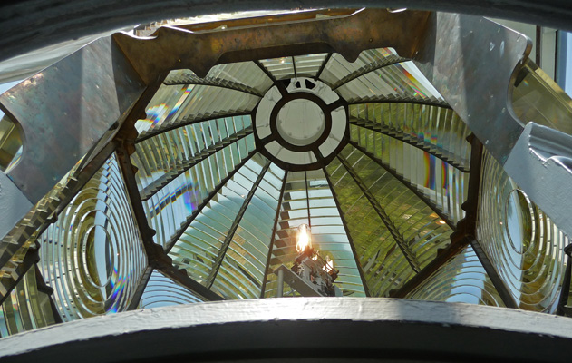 Fresnel lens Heceta Head lighthouse