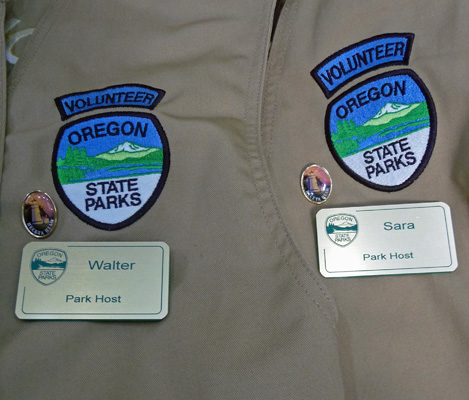 Oregon State Parks Volunteer vests and nametags