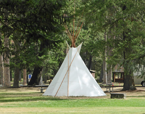 Nez Perce Teepee Wallowa Lake State Park