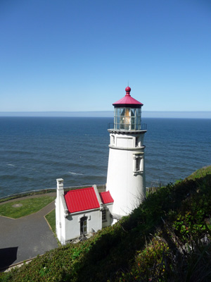Heceta Head Lighthouse from above