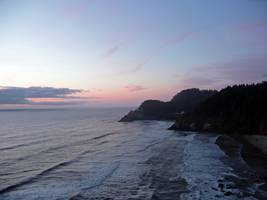 Sunset Heceta Head Lighthouse Scenic Viewpoint