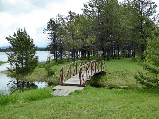 Bridge from Huckleberry to Curlew Campground