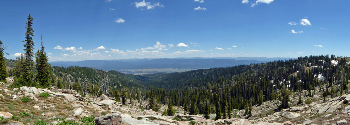 Long Valley from Snowbank Mt ID