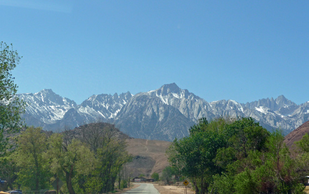 View from Whitney Portal Rd Lone Pine CA