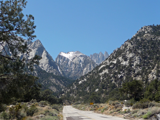 Sierras from Whitney Portal Rd Lone Pine CA