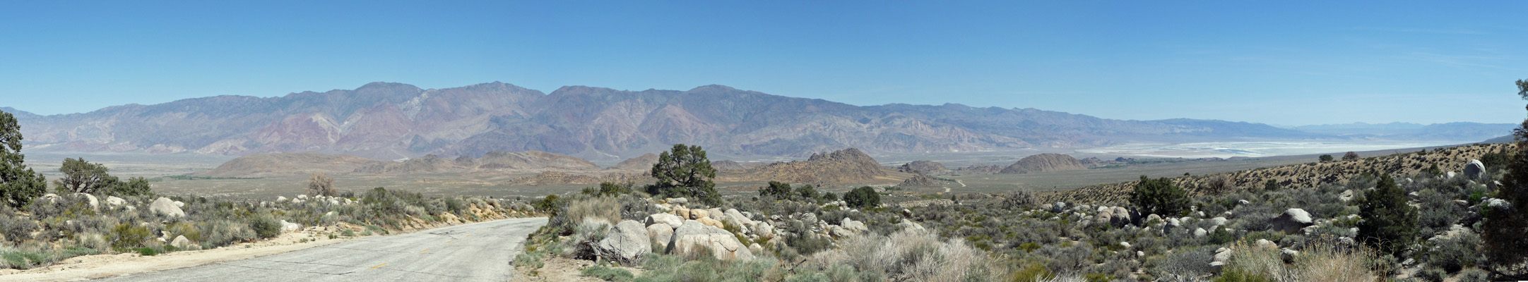 Owens Valley from Whitney Portal Road Lone Pine CA