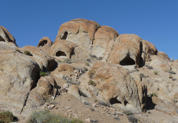 Holes in wall Alabama Hills Lone Pine CA